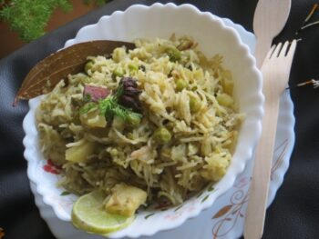 Quick Matar Paneer Pulao - Plattershare - Recipes, Food Stories And Food Enthusiasts