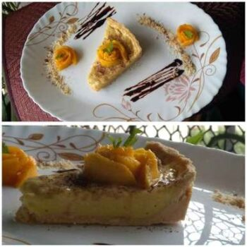 No Bake Mango Custard Tart - Plattershare - Recipes, Food Stories And Food Enthusiasts