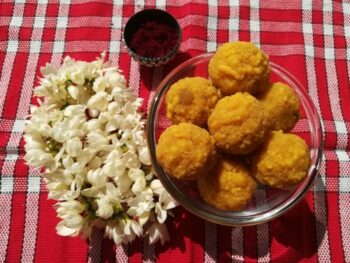 Boondi Ladoo Recipe - Plattershare - Recipes, Food Stories And Food Enthusiasts