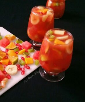 Non Alcoholic Sangria - Plattershare - Recipes, Food Stories And Food Enthusiasts
