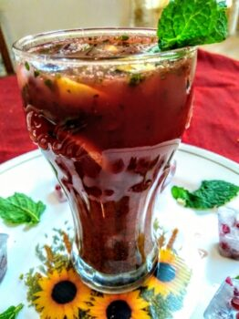 Pomegranate Mojito Mocktail - Plattershare - Recipes, Food Stories And Food Enthusiasts