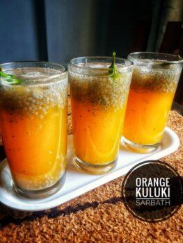 Orange Kulukki Sarbath - Plattershare - Recipes, Food Stories And Food Enthusiasts