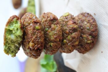 Green Peas Fritters - Plattershare - Recipes, Food Stories And Food Enthusiasts