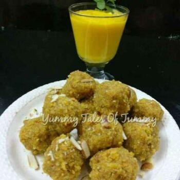 Aam Ras Poori Ke Ladoo (Mango Juice Poori Ladoos) - Plattershare - Recipes, Food Stories And Food Enthusiasts