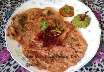 Healthy Diet Ragi Beet Dosa - Plattershare - Recipes, Food Stories And Food Enthusiasts