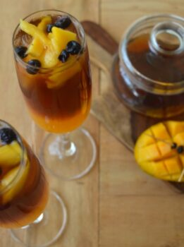 Mango And Blueberry Iced Tea - Plattershare - Recipes, Food Stories And Food Enthusiasts