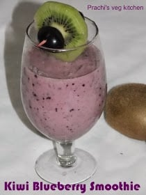 Kiwi Blueberry Smoothie - Plattershare - Recipes, Food Stories And Food Enthusiasts