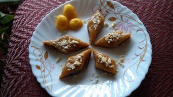 Stuffed Mango Kaju Katli - Plattershare - Recipes, Food Stories And Food Enthusiasts