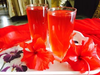 Hibiscus Sharbat - Plattershare - Recipes, Food Stories And Food Enthusiasts