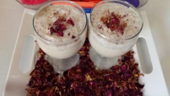 Gulkand Rose Thandai - Plattershare - Recipes, Food Stories And Food Enthusiasts