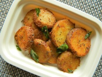 Round Cut Potato Fry - Plattershare - Recipes, Food Stories And Food Enthusiasts
