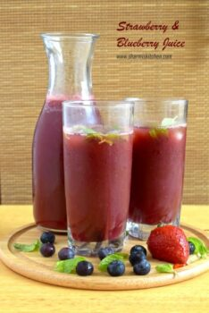 Strawberry And Blueberry Juice Recipe - Plattershare - Recipes, Food Stories And Food Enthusiasts