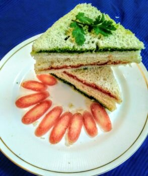 Tri Colour Sandwich - Plattershare - Recipes, Food Stories And Food Enthusiasts