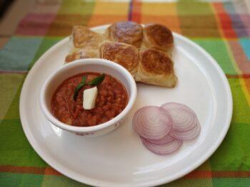 Pav Bhaji (Street Food) - Plattershare - Recipes, Food Stories And Food Enthusiasts