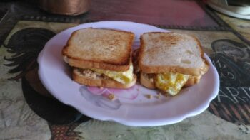 Chicken Sandwich Toast - Plattershare - Recipes, Food Stories And Food Enthusiasts