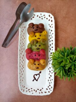 Colourful Garlic And Cheese Teddy Buns - Plattershare - Recipes, Food Stories And Food Enthusiasts