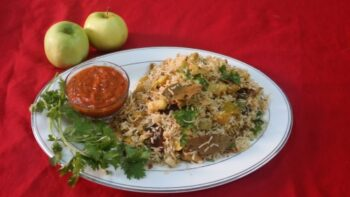 Green Apple Pulao - Plattershare - Recipes, Food Stories And Food Enthusiasts