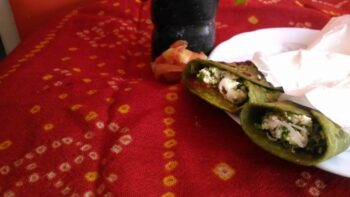 Spinach Paneer Kathi Roll - Plattershare - Recipes, Food Stories And Food Enthusiasts