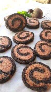 Wheat Almond Flour Beetroot Cocoa Pinwheel Cookies - Plattershare - Recipes, Food Stories And Food Enthusiasts
