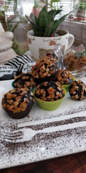 Chocochip Breakfast Muffins Topped With Fruit And Nut Muesli - Plattershare - Recipes, Food Stories And Food Enthusiasts