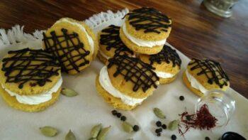 Kesariya Whoopie Pies - Plattershare - Recipes, Food Stories And Food Enthusiasts