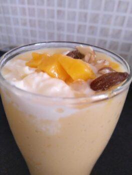 My Mango Treat-Fusion Of Mango Mastani - Plattershare - Recipes, Food Stories And Food Enthusiasts