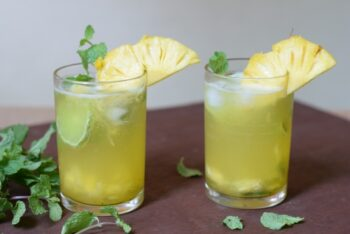 Virgin Pineapple Mint Mojito - Plattershare - Recipes, Food Stories And Food Enthusiasts