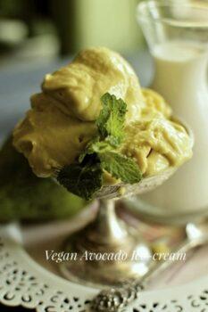 Vegan Avocado Ice-Cream - Plattershare - Recipes, Food Stories And Food Enthusiasts