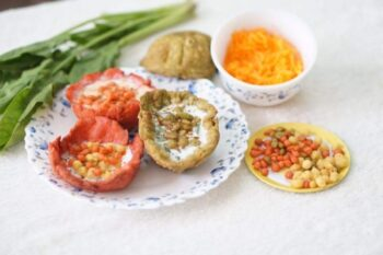 Carrot Boondi Raita In Edible Bowls - Plattershare - Recipes, Food Stories And Food Enthusiasts