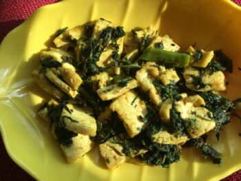 Palak Paneer Dry - Plattershare - Recipes, Food Stories And Food Enthusiasts
