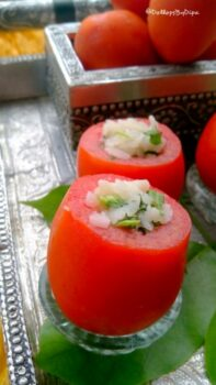 Poha Stuffed Tomatoes - Plattershare - Recipes, Food Stories And Food Enthusiasts