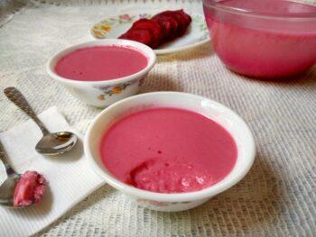 Beetroot Bengali Mishti Doi - Plattershare - Recipes, Food Stories And Food Enthusiasts