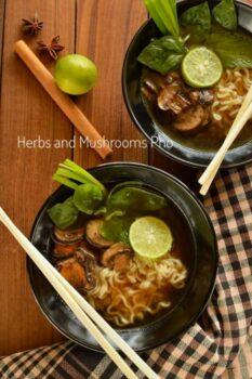 Herbs And Mushroom Pho - Plattershare - Recipes, Food Stories And Food Enthusiasts