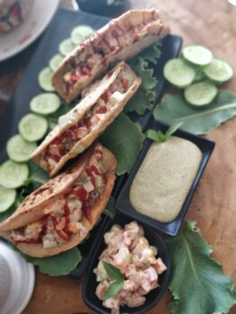 Baked Soy Veggie Taco Shells With Refreshing Mint Hung Curd - Plattershare - Recipes, Food Stories And Food Enthusiasts