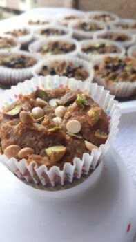Musk_Melon Cupcakes From 5 Healthy Flour Mix - Plattershare - Recipes, Food Stories And Food Enthusiasts