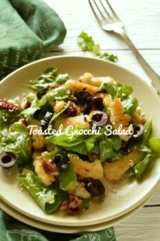 Toasted Potato Gnocchi Salad - Plattershare - Recipes, Food Stories And Food Enthusiasts