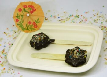 Chocolate Coated Frozen Kiwi Star Pops - Plattershare - Recipes, Food Stories And Food Enthusiasts