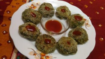 Spinach Cutlet - Plattershare - Recipes, Food Stories And Food Enthusiasts