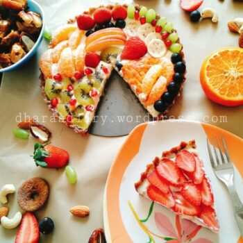 Healthy No Bake Chocolate Fruit Pizza (Gluten-Free, Sugar-Free) - Plattershare - Recipes, Food Stories And Food Enthusiasts