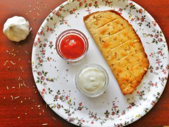 Garlic Bread | Cheese Garlic Bread | Wheat Garlic Bread Recipe - Plattershare - Recipes, Food Stories And Food Enthusiasts