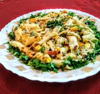 Garlic Pasta Salad - Plattershare - Recipes, Food Stories And Food Enthusiasts