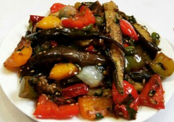 Chinese Style Brinjal - Plattershare - Recipes, Food Stories And Food Enthusiasts