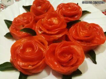 Rose Shape Veg Momos - Plattershare - Recipes, Food Stories And Food Enthusiasts