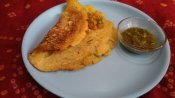 Moong Dal Cheela - Plattershare - Recipes, Food Stories And Food Enthusiasts