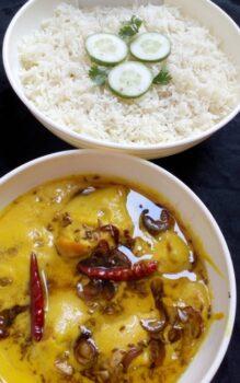 Kadi Pakoda With Rice - Plattershare - Recipes, Food Stories And Food Enthusiasts