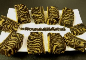Eggless Malai Zebra Cake - Plattershare - Recipes, Food Stories And Food Enthusiasts