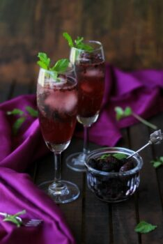 Mulberry Spritzer - Plattershare - Recipes, Food Stories And Food Enthusiasts