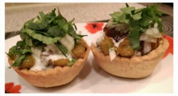Baked Katori Chaat - Plattershare - Recipes, Food Stories And Food Enthusiasts