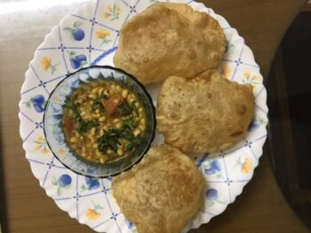 Chawli Dal With Poori - Plattershare - Recipes, Food Stories And Food Enthusiasts