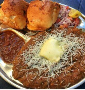 Chesse Pav Bhaji - Plattershare - Recipes, Food Stories And Food Enthusiasts